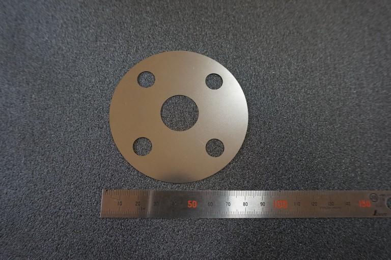 薄板レーザー加工品_SUS304H_t0.1×φ80